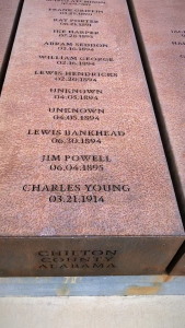 James Powell Memorial at the Memorial for Peace and Justice